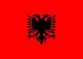 Vlag van Albanië groot 90x150 cm
