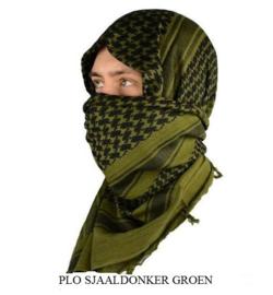 Plo sjaal groen- zwart