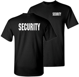 T-shirt security maat XXXL