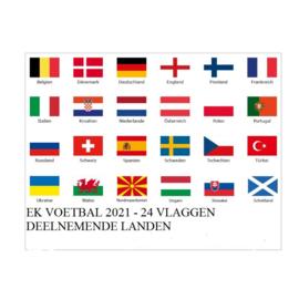 UEFA voetbal EK 2020 - 2021 & vlaggenpakket