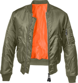 MA-1 winter bomberjack Blauw Gewatteerd flight jacket