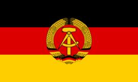 Vlag DDR Oost Duitsland