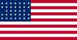 Vlag Amerika 33 sterren (1859-1861)