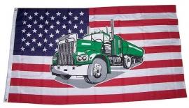 Vlag Amerika met Truck