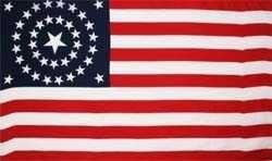 Vlaggen Amerika 38 sterren (1877-1890)