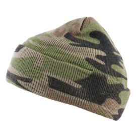 Fostex Commando Muts woodland camouflage fijn gebreid