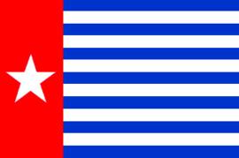 Morgenster vlag west Papua