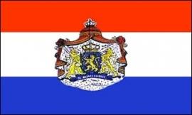 Vlag Nederland met embleem