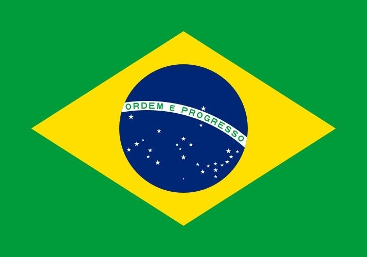 Brazilië grote vlag XXXL 150 x 250 cm