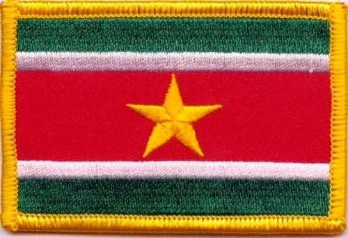 Embleem Suriname stof