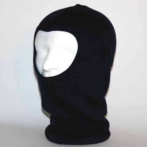 Helm bivak 1-gaats fleece  kleur zwart,