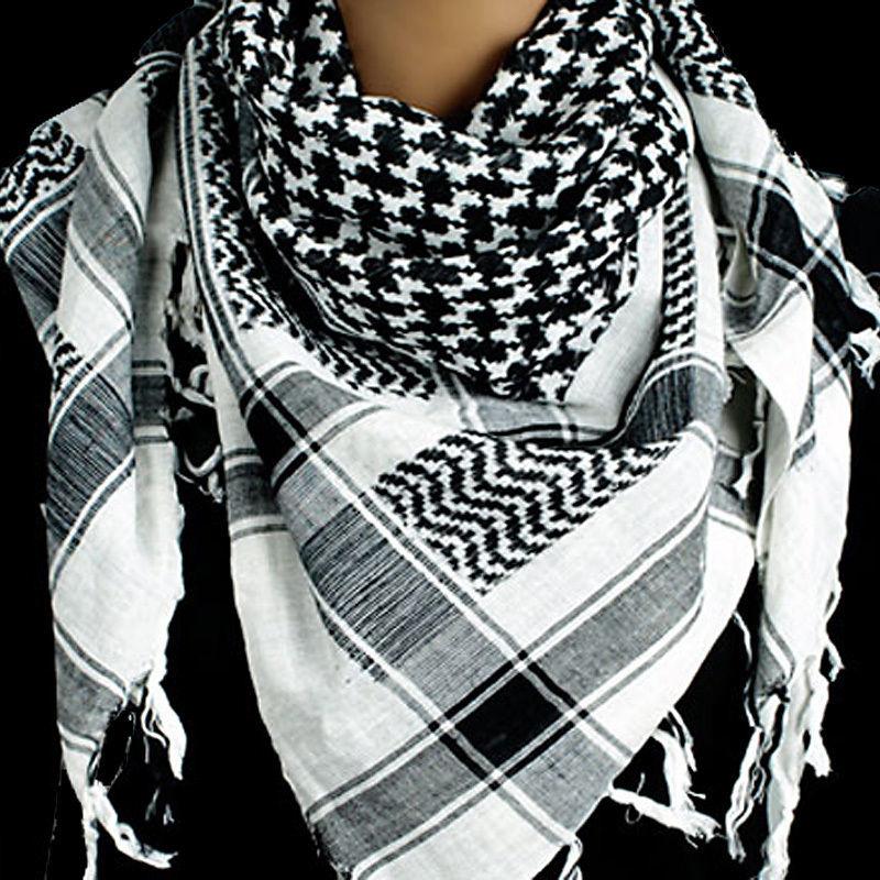 Plo sjaal zwart wit groot