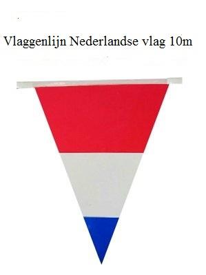 Vlaggenlijn Nederland ROOD WIT  BLAUW
