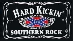 Vlag Confederate Hard Kickin' Southern Rock vlag