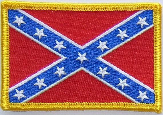 Opnaai embleem Rebel vlag van stof