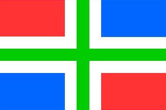 Vlag Groningen 90x150cm