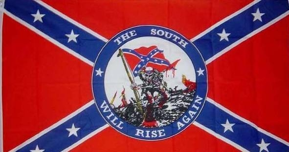 """Vlag Rebel """" THE SOUTH WILL RISE AGAIN"""