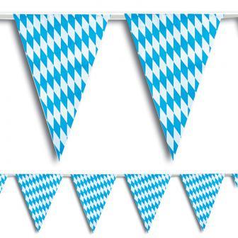 Oktoberfest vlaggenlijn blauw/wit 10 m