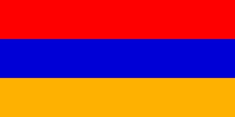 Vlag van  Armenie groot 90x150 cm