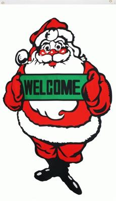 vlag kerstmis  welcome