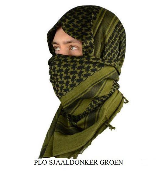 Plo sjaal zwart/groen