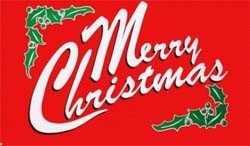 Vlag Merry Christmas rood
