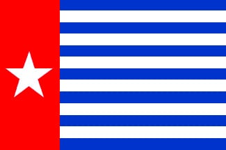 Morgenster vlag west Papua