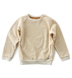Raglan Sweater stripes brown sugar, Little Label