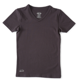 Boys t-shirt v-neck anthracite, Little label