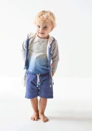 Boys shirt losse fit off white melee dip dye, Little Label