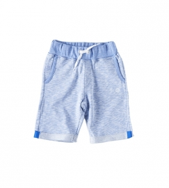Little Label sweat short ligth blue melee unisex baby