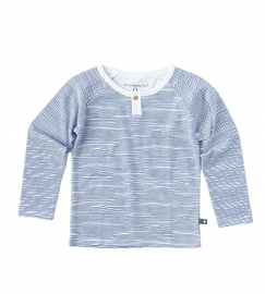 Little Label longsleeve henley ocean blue stripes kids