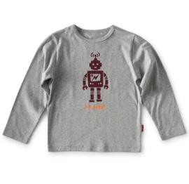 Shirt lange mouw grey melee robot, Tapete