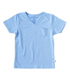 Little Label v neck shirt blue melee baby