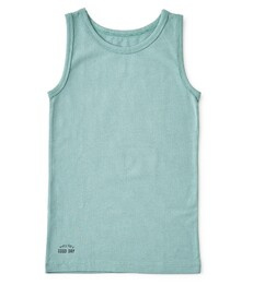 boys singlet faded green, Little label