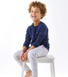 Boys sweater AOP blue mel bikes, Little Label