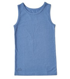 boys singlet faded blue , Little label