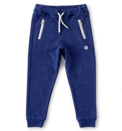 Sweatpants loose fit  unisex navy blue melee, Little Label