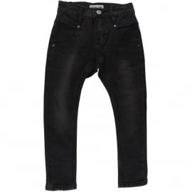 Dave Slim Jeans Denim Black, Small Rags
