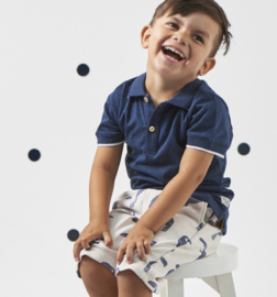 Boys Polo Navy Melee, Little Label