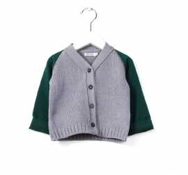 Imps&Elfs Cardigan Long Sleeve Dusk/Farmer Green