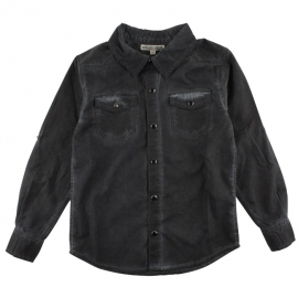 Dave LS Shirt Jet Black, Small Rags