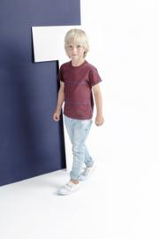 T-shirt short sleeve cherry/trueblue, Imps & Elfs