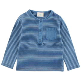 Ink LS T-Shirt GOTS Indigo Blue, Enfant