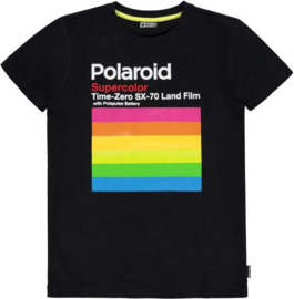 polaroid T-shirt Peck black, Tumble 'n Dry