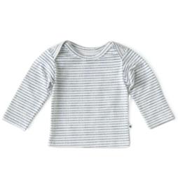 Newborn shirt longsleeves navy dotted stripe, Little Label