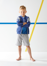 Boys bomber jacket navy blue melee, Little Label