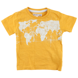 SS T-shirt Gots Mineral Yellow. Smallrags