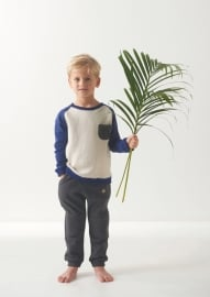 Sweater Boys with contrast padded beige, Little Label