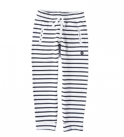 Little label sweatpants black/white stripes unisex kids